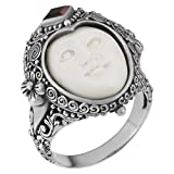 Artisanica Sterling Silver Garnet Moon Princess Handcrafted Ring (size 7)