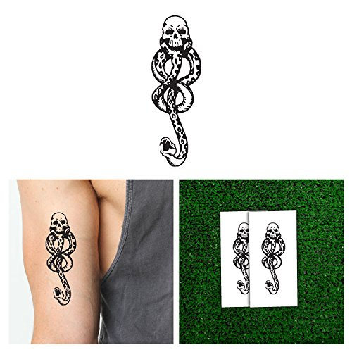 10 pcs Harry Potter Death Eaters Dark Mark Tattoos for Cosplay Accessories and Dancing Party]()
