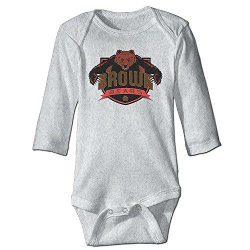 JJVAT Brown University Long Sleeve Play Suit For 6-24 Months Infant Size 24 Months Ash ()
