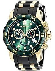 Invicta Mens 17886 Pro Diver Analog Display Swiss Quartz Black Watch
