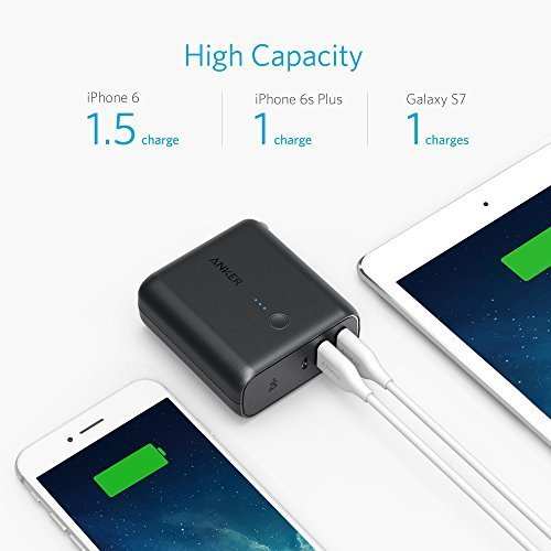 Anker PowerCore Fusion 5000 2-in-1 Portable Charger and Wall Charger, AC Plug with 5000mAh Capacity, PowerIQ Technology, For iPhone, iPad, Android, Samsung Galaxy and More