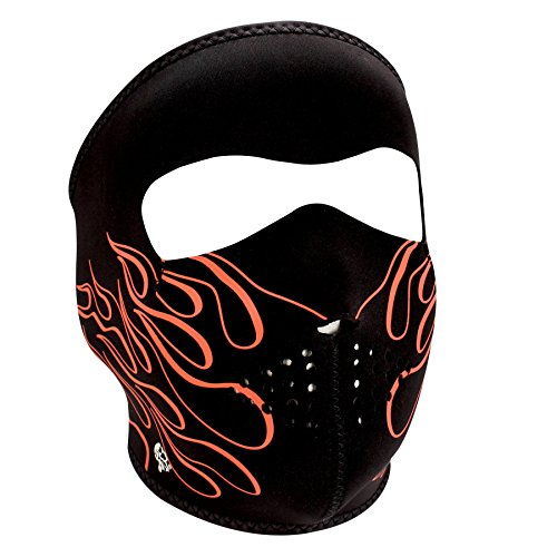 ZANheadgear Neoprene Full Face Mask, Orange Flame