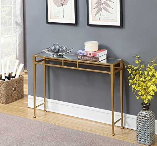 Convenience Concepts 227899MRG Hall Console Table, Mirror Top/Gold Frame ()
