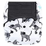 HappyEndings Contoured'Day or Night' All in One AIO Hook and Loop Cloth Diaper (+Pocket)'Boho'