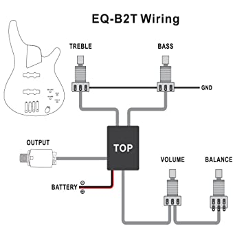 1pkg Belcat EQ-B2T 2 Band Active EQ Preamp Circuit for B Guitar with on