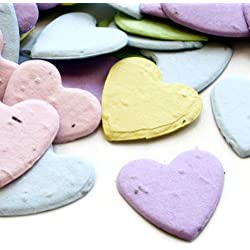 Heart Shaped Plantable Seed Confetti (Multicolored) Value Pack (two 350 piece bags = 700 pieces of seed confetti)