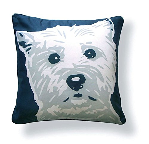 Naked Decor West Highland Terrier pillow, Dark Grey/Light Grey - West Highland Terrier Throw
