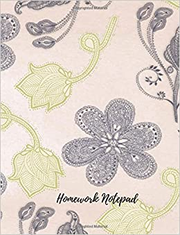 Homework Notepad: Undated Daily/Weekly Assignment/Homework Planner Journal Notebook. 8.5In By 11In. 104 Pages. For Students, Men Women, Boys, & Girls (Student Planners)