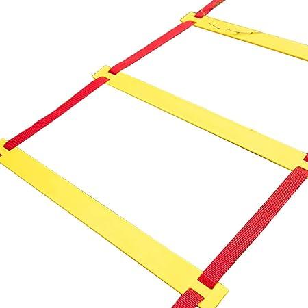 Escalera de velocidad Escalera de Agilidad de Fútbol Ajustable, Entrenamiento de Velocidad y Equipo de Entrenamiento Agilidad Rápida para el Trabajo con Ejercicios Agilidad con Bolsa de Transporte: Amazon.es: Hogar