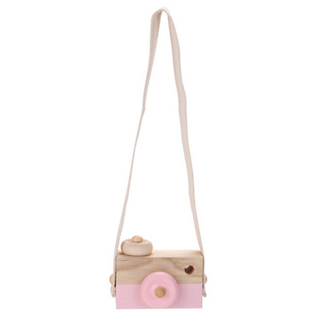 Lalang Niedliche Baby Kinder Holz Kamera Spielzeug Kindermode Bekleidung Accessory Zubehör, als Beste Geburtstagsgeschenk für Baby (Rosa) 88_Store