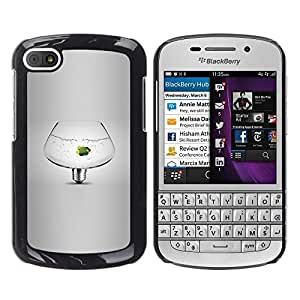 Fish Tank de mascotas Bombilla Idea Gris Profundo- Metal de aluminio y de plástico duro Caja del teléfono - Negro - BlackBerry Q10