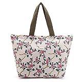 Tote Bag Shopping Bag Shoulder Handbag for Women,Coin Purse Cosmetic Bags Makeup Bag,School Backpack Travel Bag College Bags for Teen Girls Student Women (C-Tote Bag-Floral-Pink)