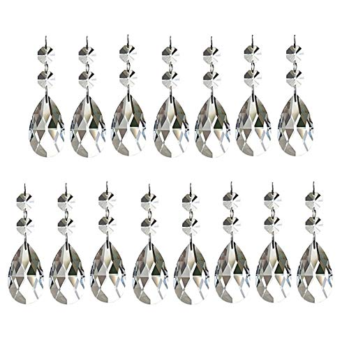 Aiskaer 15 Pieces Teardrop Chandelier Crystal(Angel Tears (Angel Hanging Crystal)