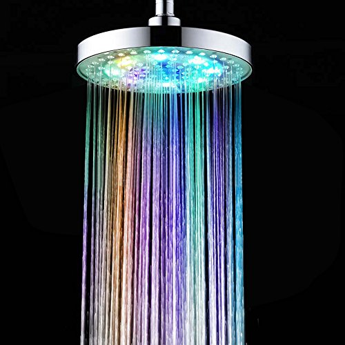 INLIFE LED Shower Head, Color Changing, Rainfall Effect, Overhead Shower Head for Home, Hotel, Spa