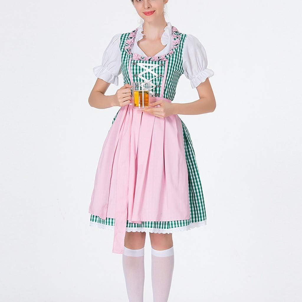 LGHOVRS Disfraz de Fiesta de la Cerveza, Mujer, Vestido con ...