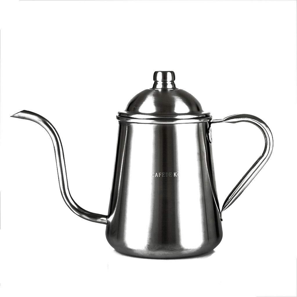 Acquisto Kaiyu Caffettiera a Goccia a Lunga Bocca per Uso Domestico (Color : Silver Thin Mouth Pot) Prezzi offerta