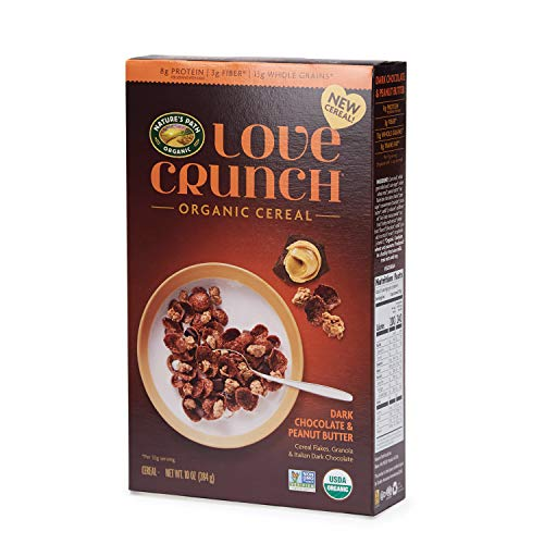 Nature's Path Love Crunch Organic Cereal, Dark Chocolate Peanut Butter, 6 Count