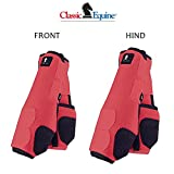 L- 4 PACK CORAL CLASSIC EQUINE LEGACY SYSTEM HORSE FRONT REAR HIND SPORT BOOT
