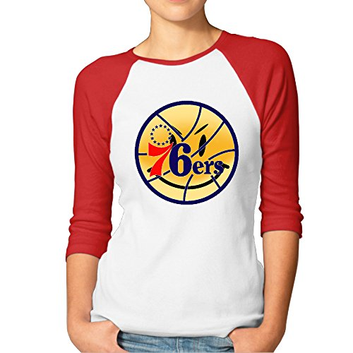3/4 Sleeve Philadelphia 76ers Sleeve Printed T ShirtsWomen's ()