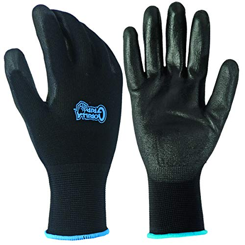 (Grease Monkey 25162-60 Gorilla Grip Nitrile Work Gloves, 10 Pack Large)
