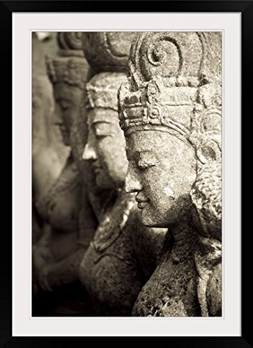 GreatBIGCanvas ''Stone Statues, Bali, Indonesia, Asia'' by Keith Levit Photographic Print with Black Frame, 24'' x 36'' by greatBIGcanvas