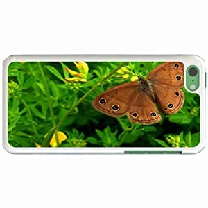 Custom Fashion Design Apple iPhone 5C Back Cover Case Personalized Customized Diy Gifts In Butterfly eyes White