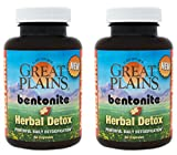 Yerba Prima Bentonite Plus Herbal Detox - 60 veggie caps (Pack of 2)