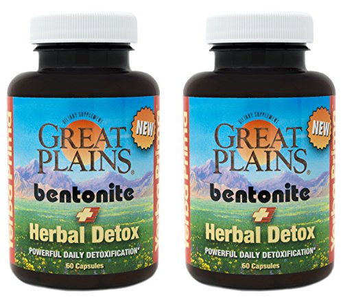 Yerba Prima Bentonite Plus Herbal Detox – 60 veggie caps Pack of 2