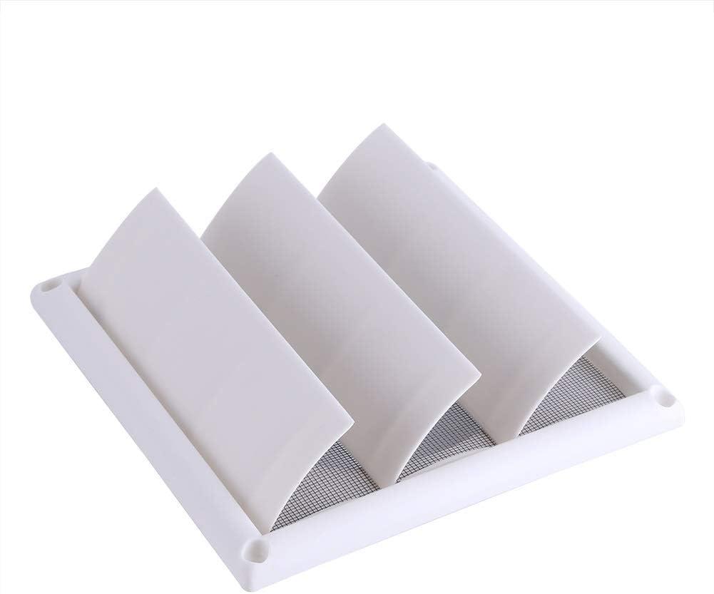 Rejilla de la Cubierta 3 Flaps Parrilla de Ventilaci/ón del Conducto de la Pared con la Red 1pc Nuevo 2 Tama/ños tama/ño : 15 x 15 cm Ventilaci/ón de Aire de Pl/ástico