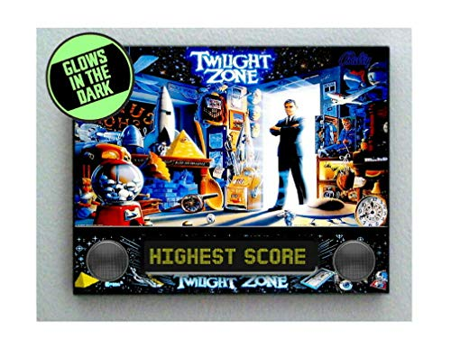 Twilight Zone Pinball - The Twilight Zone Rod Serling Pinball Backglass Framed Cool Art Movie Mini Poster