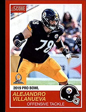 a161c45e8 2018 Panini Instant NFL Pro Bowl 1989 Score Design Football  10 Alejandro  Villanueva Pittsburgh Steelers