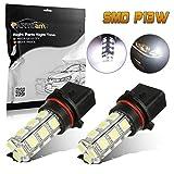 5202 amber led fog light bulbs - Partsam 2x Xenon Super Bright 6000K White P13W 12277 18-5050-SMD 12V LED Bulbs for 2011-2012 Chevrolet Camaro Daytime Running Lamp DRL Fog Driving Light