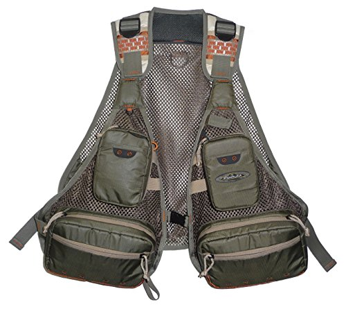 Deluxe Vest Mesh - North Star Sports Sandy Point 11 Pocket Deluxe Mesh Fishing Vest, Olive