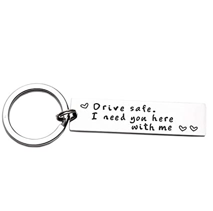 Amazon Com Iwensheng Drive Safe Handsome I Love You Keychain Gifts
