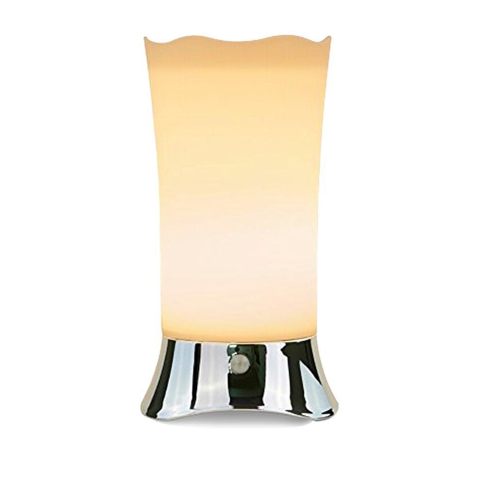 Teepao Standing Desk Lamp, Nightstand Lamps Small Vintage LED Bedside Night Light Portable Wireless PIR Motion Sensor Desk Lamp Set White Retro Living Room Bedroom Light for Boys Men Women