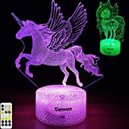 Senros Unicorn Gifts Night Light Toys for Girls,Timer,7 Color Changing,Remote&Touch Control Unicorn Night