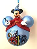 Walt Disney World Parks 2016 Sorcerer Mickey Mouse Ears Ornament NEW