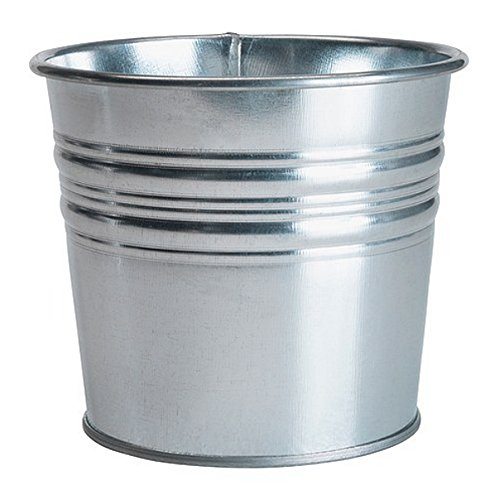 Galvanized Plant Pot, Pack of 3, Silver