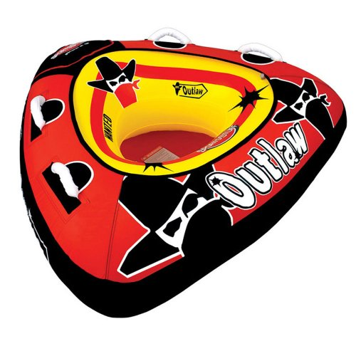 SportsStuff 53-1126 Outlaw Towable,Deflated 23in (Kwik Tek Double Dog)