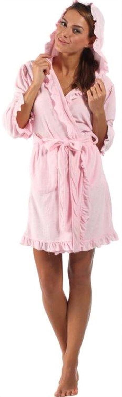 Womens Girls Lady Selena Jersey Feel Hooded Dressing Gown Robe ...