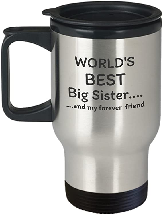 Sister Gift  Insulated Travel Mug Tumbler 20 or 30 oz Metal Etched Engraved Always My Sister Forever My Friend