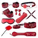 10ピースSMおもちゃSMキットカップルのためのラブリーデザインSMおもちゃとSMゲームおもちゃ ( Color : Red )