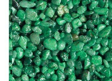 Colored Quartz Pebbles Gravel  Green, 10 lbs