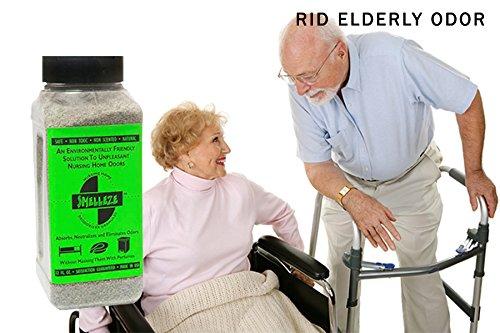 SMELLEZE Natural Nursing Home Smell Remover: 50 lb. Granules Remove Elderly Odor by SMELLEZE