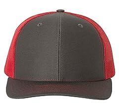 750b769845649a Amazon.com: Richardson Black 112 Mesh Back Trucker Cap Snapback Hat ...