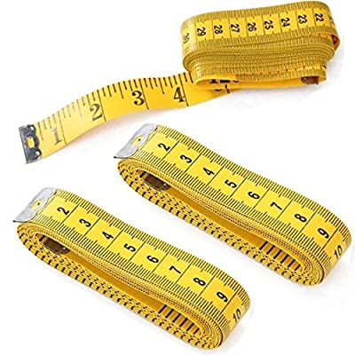 2 PCs 120'' Tailor Seamstress Cloth Body Ruler Tape Measure Sewing Cloth Tool Free shipping