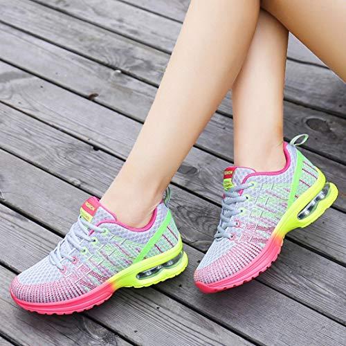 Mode Schuhe Sneaker Frau Bequeme LHWY Turnschuhe Wanderschuhe Sportschuhe Damen Atmungsaktiv Gray Athletische Laufschuhe Elegant Outdoor Winter Rutschfest tYqwdtpx1