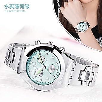 d7df977cc2 Amazon | HWCOO 美しい時計 LONGBO8399ファッションスチールベルト偽three-eyeダイヤモンドレディース腕時計女性の腕時計 ( Color : 2) | レディース腕時計 | 腕時計 ...