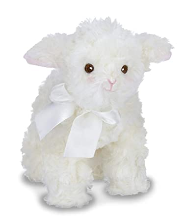 Amazon Com Bearington Baby Lil Blessings White Lamb Stuffed Animal