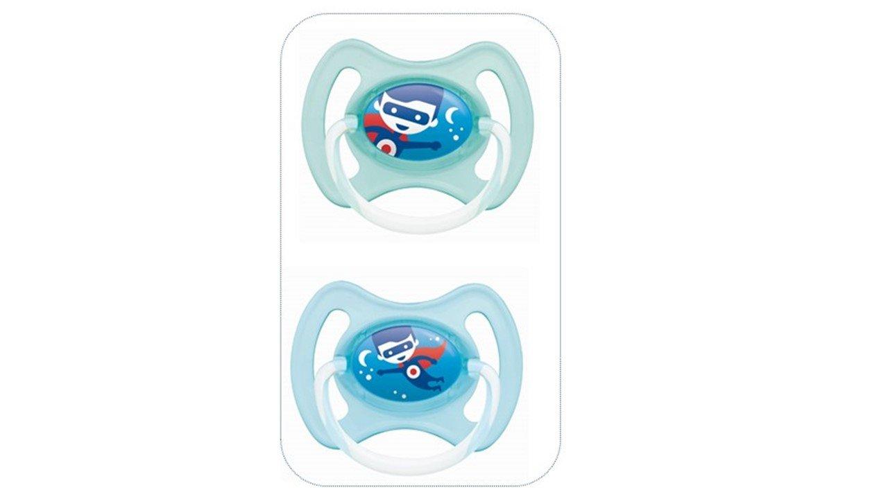 MAM chupete Noche Ring - a partir de 18 meses - Silicona - Conjunto de 2 - los colores al azar